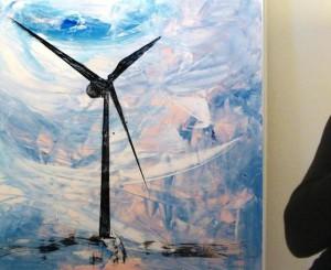 """""""Energiewende"""" 100 x 120, Sammlung A.V."""