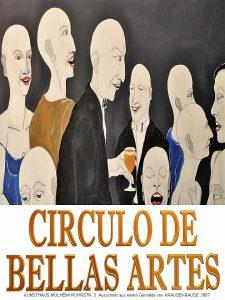 Plakat CIRCULO DE BELLAS ARTES - KUNSTSTADT MÜLHEIM RUHR Zirkel der Schönen Künste - KunstAkademie - Amt für weiterbildende Fantasie
